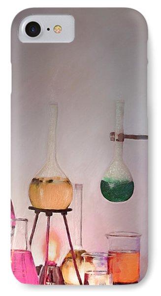 Magical Beakers IPhone Case by Enzie Shahmiri