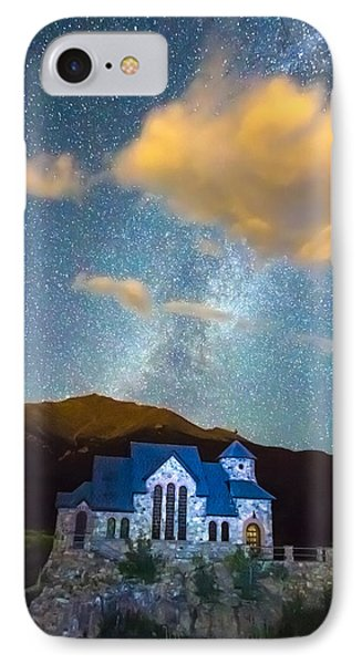 Magical Chapel On The Rock Milky Way Sky IPhone Case by James BO  Insogna