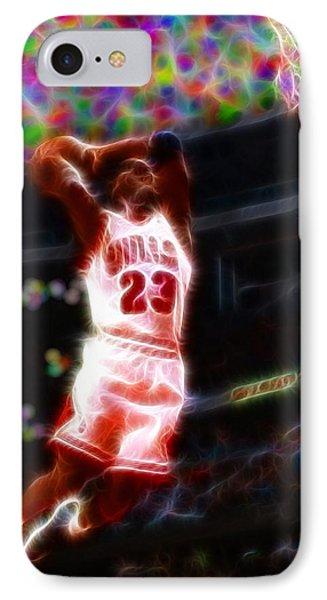 Magical Michael Jordan White Jersey Phone Case by Paul Van Scott