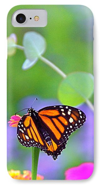 IPhone Case featuring the photograph Magical Monarch by Byron Varvarigos