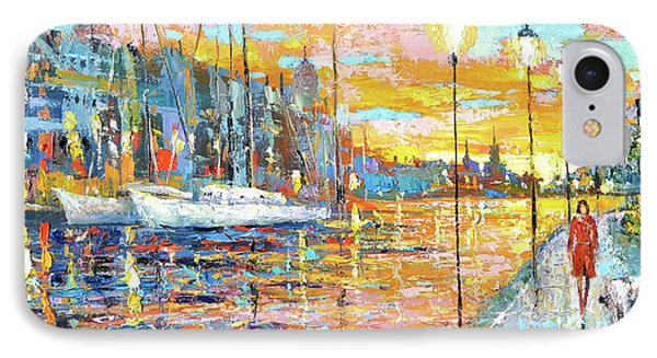 IPhone Case featuring the painting Magical Sunset by Dmitry Spiros
