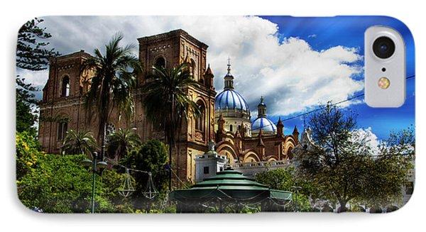 Magnificent Center Of Cuenca, Ecuador IIi Phone Case by Al Bourassa