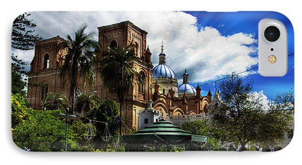 IPhone Case featuring the photograph Magnificent Center Of Cuenca, Ecuador IIi by Al Bourassa