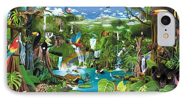 Toucan iPhone 7 Case - Magnificent Rainforest by Gerald Newton