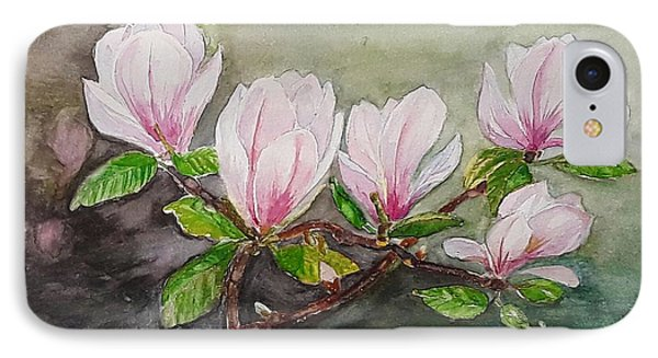 Magnolia Blossom - Painting IPhone Case by Veronica Rickard