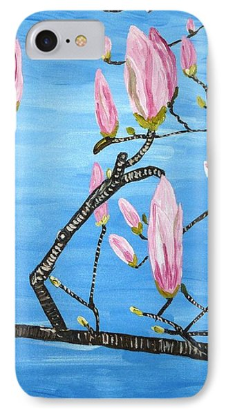 Magnolia Blossom IPhone Case by Valerie Ornstein