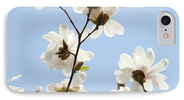 Magnolia Flowers White Magnolia Tree Flowers Art Spring Baslee Troutman Phone Case by Baslee Troutman