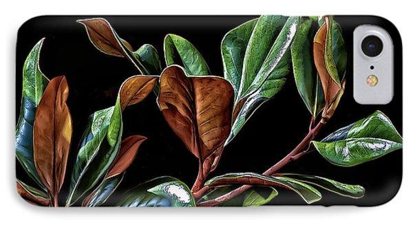 Magnolia Leaves IPhone Case by Walt Foegelle