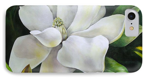 Magnolia Oil Painting IPhone Case by Chris Hobel
