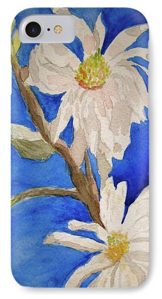 Magnolia Stellata Blue Skies Phone Case by Beverley Harper Tinsley