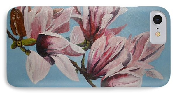 Magnolia Tree Branch IPhone Case
