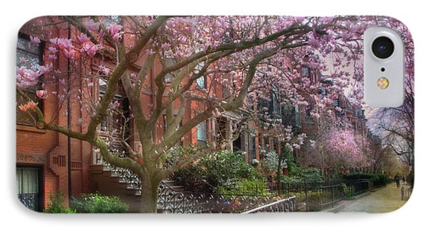 IPhone Case featuring the photograph Magnolia Trees In Spring - Back Bay Boston by Joann Vitali