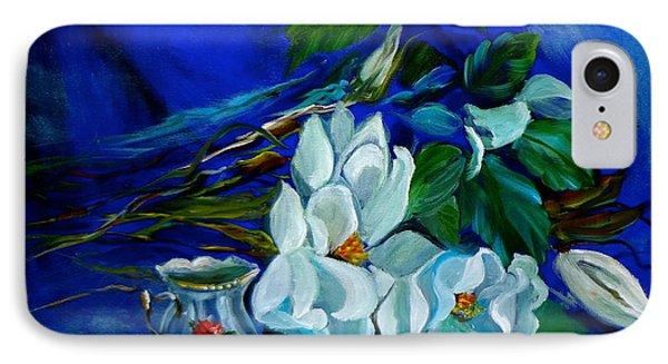 Magnolias And Cream IPhone Case by Jenny Lee