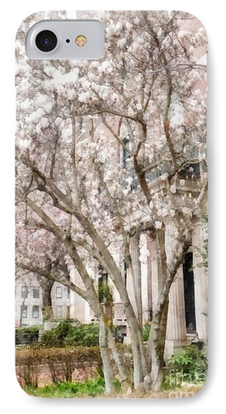 Magnolias In Back Bay IPhone Case by Edward Fielding