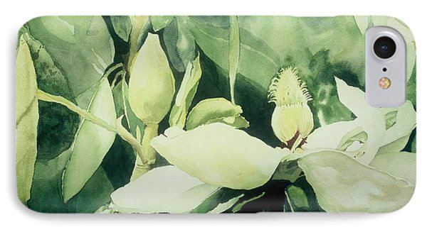 Magnolium Opus IPhone Case by Elizabeth Carr