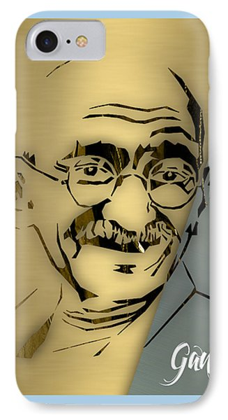 People Changing History Mahatma Gandhi IPhone Case by Marvin Blaine