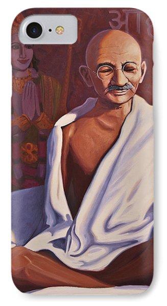 Mahatma Gandhi Phone Case by Steve Simon