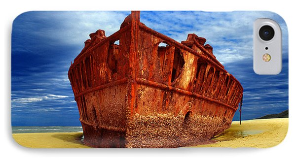 Maheno Shipwreck Fraser Island Queensland Australia IPhone Case