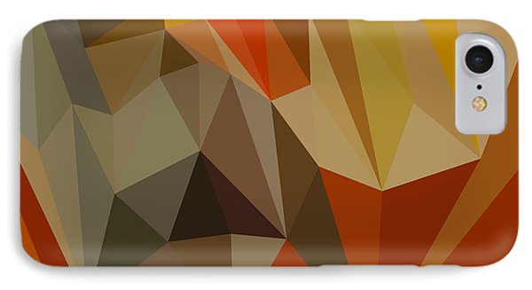 Mahogany Brown Abstract Low Polygon Background IPhone Case