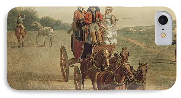 Mail Coach IPhone Case by Frederick Christian Lewis
