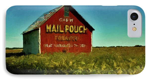 IPhone Case featuring the painting Mail Pouch Barn P D P by David Dehner