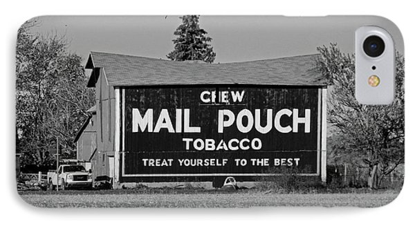 Mail Pouch Tobacco In Black And White IPhone Case