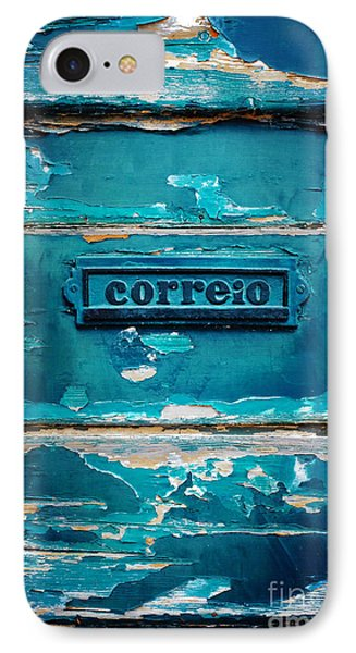 Mailbox Blue IPhone Case by Carlos Caetano
