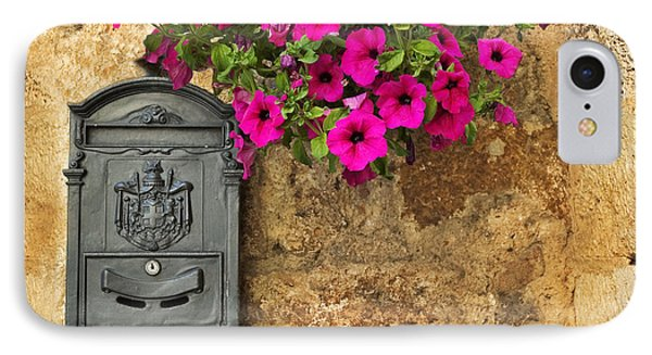 Mailbox With Petunias IPhone 7 Case