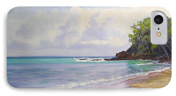 IPhone Case featuring the painting Main Beach Noosa Heads Queensland Australia by Chris Hobel