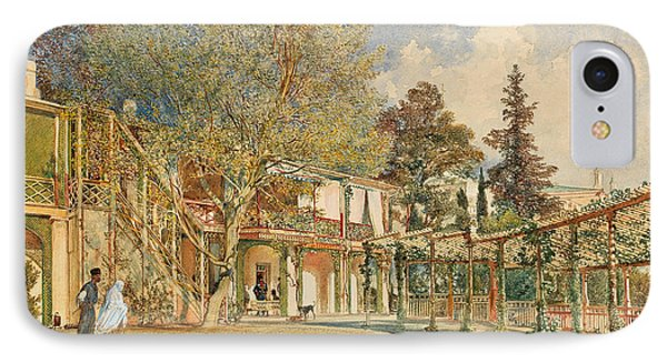Main Courtyard Of The Khan's Palace In Bakhchisaray IPhone Case by Rudolf von Alt