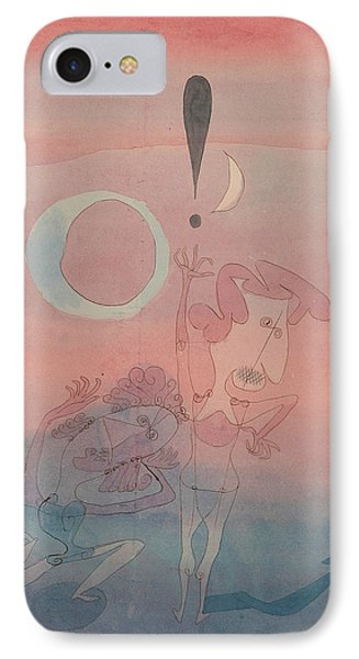 Main Scene From The Ballet The False Oath IPhone Case by Paul Klee