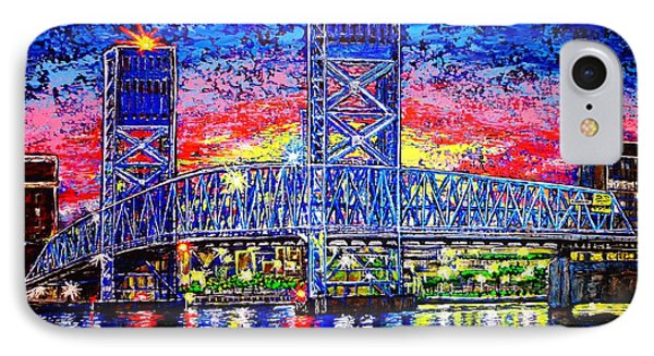 IPhone Case featuring the painting Main St. Bridge by Viktor Lazarev