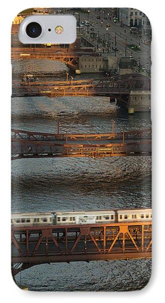 Main Stem Chicago River IPhone Case by Steve Gadomski