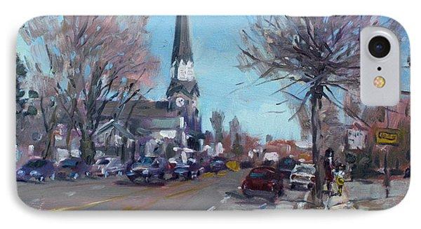 Main Street In Williamsville IPhone Case by Ylli Haruni