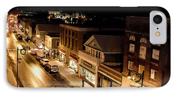 Main Street - Lake Placid New York IPhone Case by Brendan Reals