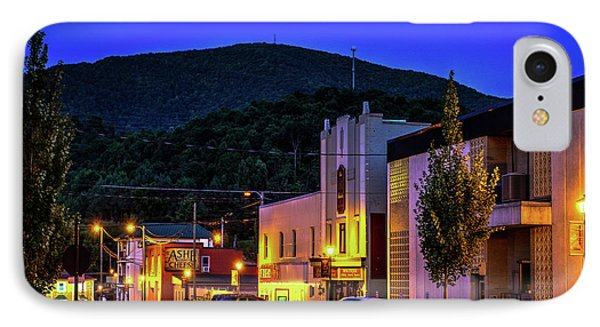 Main Street Lights IPhone Case by Dale R Carlson