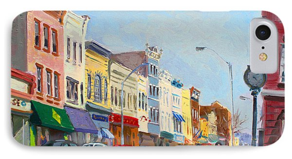 Main Street Nayck  Ny  IPhone Case by Ylli Haruni