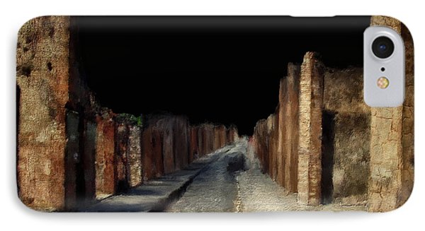 Main Street, Pompeii IPhone Case by Lois Bryan