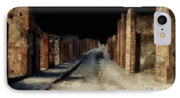 IPhone Case featuring the digital art Main Street, Pompeii by Lois Bryan