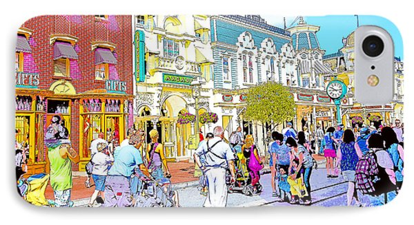 Main Street Usa Walt Disney World Poster Print IPhone Case by A Gurmankin