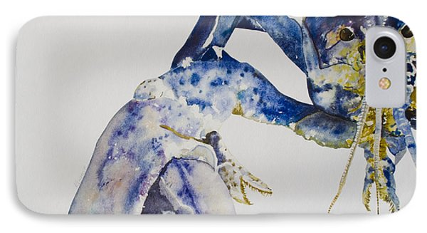Maine Blue Lobster Phone Case by Kellie Chasse