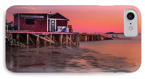 IPhone Case featuring the photograph Maine Coastal Sunset At Dicks Lobsters - Crabs Shack by Ranjay Mitra