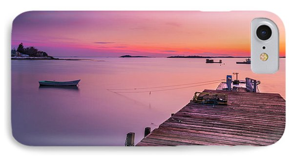 IPhone Case featuring the photograph Maine Cooks Corner Lobster Shack At Sunset by Ranjay Mitra