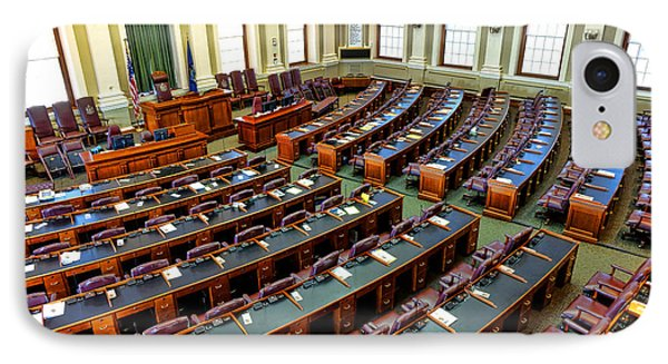 Maine House Of Representatives Chamber IPhone Case by Olivier Le Queinec