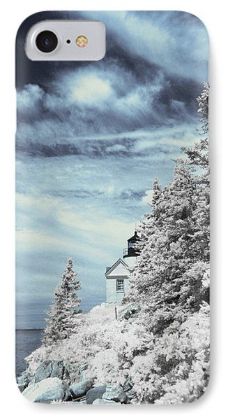 Maine Lighthouse IPhone Case by Bob LaForce