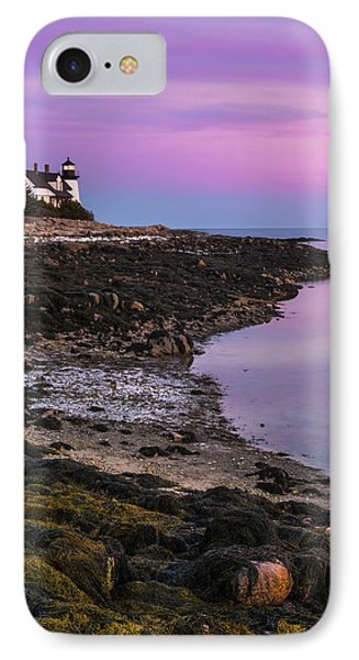 IPhone Case featuring the photograph Maine Prospect Harbor Lighthouse Sunset In Winter by Ranjay Mitra