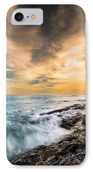 IPhone Case featuring the photograph Maine Rocky Coastal Sunset by Ranjay Mitra