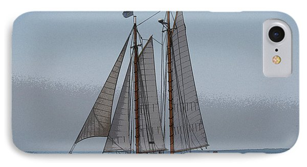 Maine Schooner IPhone Case