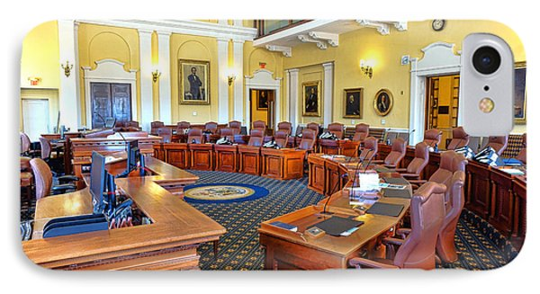 Maine Senate Chamber IPhone Case by Olivier Le Queinec