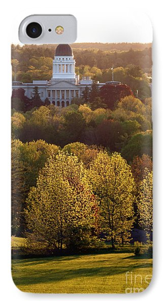 Maine State Capitol At Sunset IPhone Case by Olivier Le Queinec